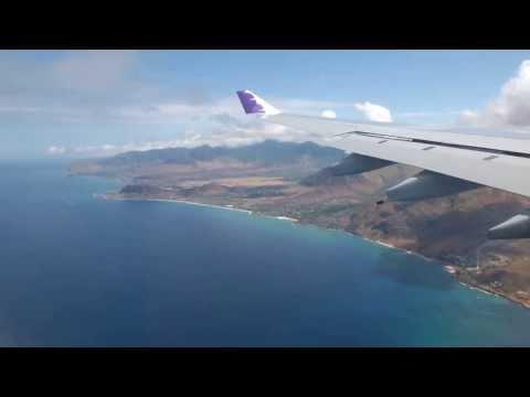 HNL landing Hawaiian Airline (Full HD)