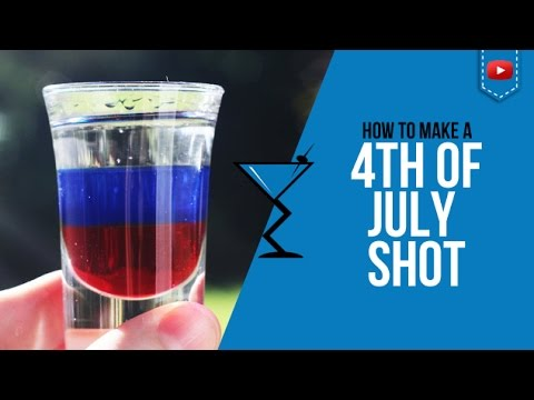 4th of July Shot - How to make a Fourth of July Shot Recipe by Drink Lab (Popular)