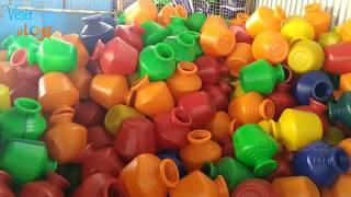 plastic kudam making, plastic kudam manufcturing, plastic pots manufacturing
