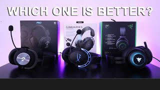 Logitech G Pro X VS HyperX Cloud Alpha S VS Razer Kraken Ultimate - Best $130 Gaming Headset Review