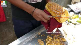 Pineapple Cutting   |  Fast !!! Simple !!!!! & Easy !!!!! | 2016 VIDEOS street food