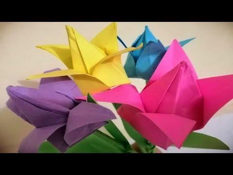 DIY paper flowers st - How to make beautiful lotus paper in flowers