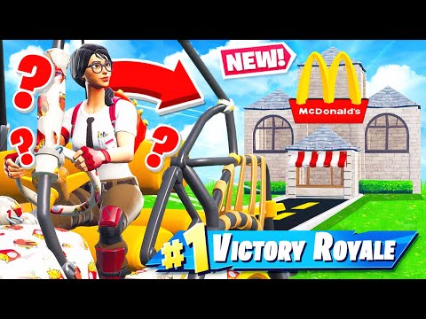 McDonalds DRIVE THRU Challenge Game Mode In Fortnite Battle Royale