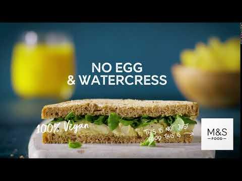M&S   Plant Kitchen No Egg & Watercress Sandwich