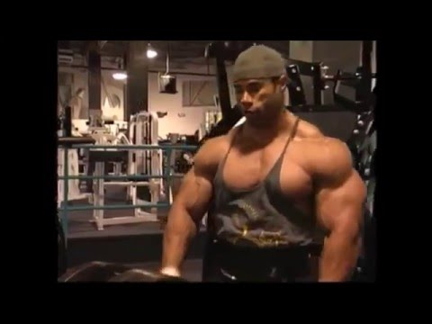 Kevin Levrone training back and biceps