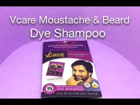 Vcare Moustache & Beard Dye Shampoo - YouTube