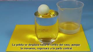 Pelota Cabezota. Experimentos (Divertiaula). Easy Science experiment for children.