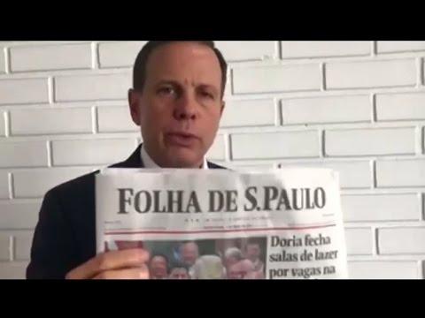 João Doria rebate matéria do jornal Folha de São Paulo e explica porque fechou áreas de lazer em SP.
