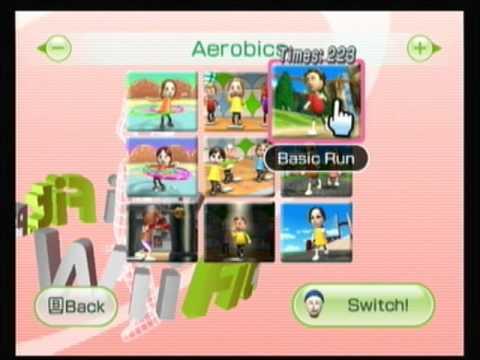 Wii Fit Plus Aerobics Playthrough Part 2 Basic Run Short