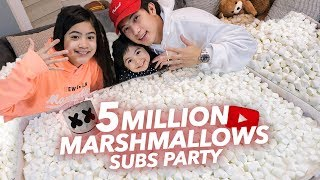 Download Video 5 MILLION SUBS MARSHMALLOW PARTY! | Ranz and Niana MP3 3GP MP4
