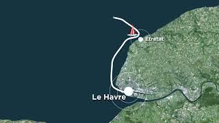 Parcours Transat Jacques Vabre 2017 - Le Havre Bretagne Télé