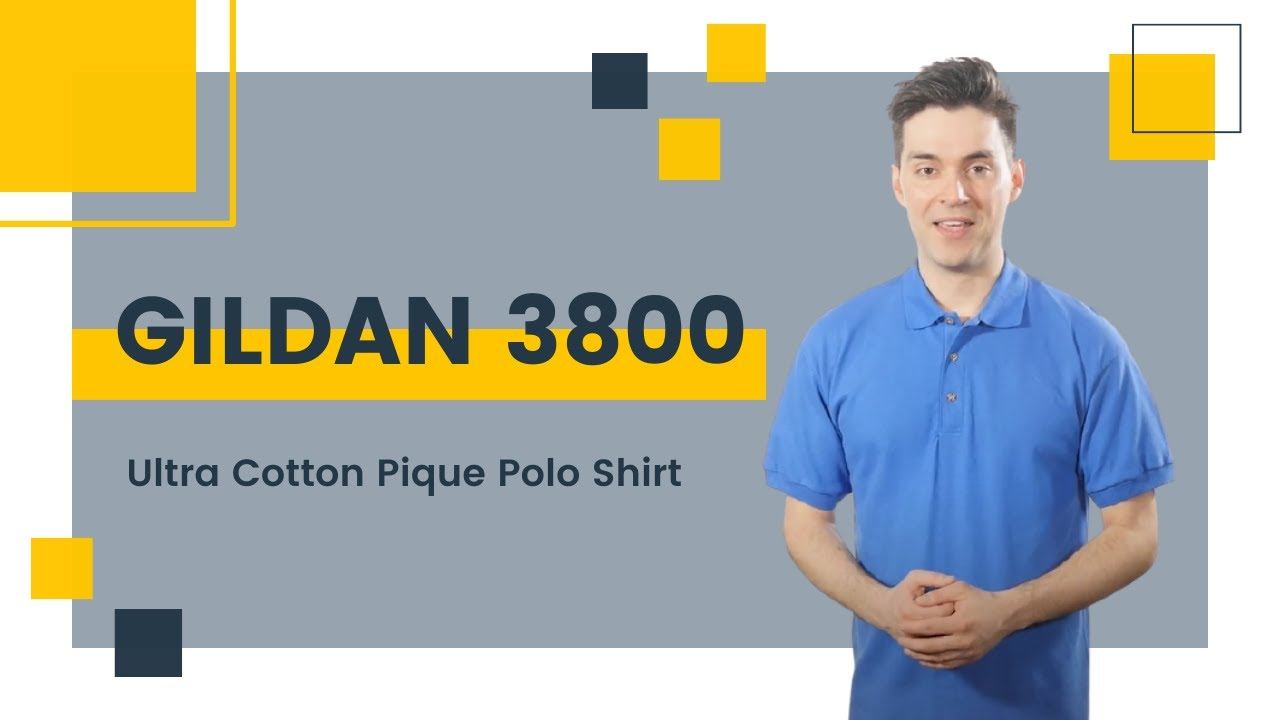 Gildan 3800 Ultra Cotton Pique Polo Shirt Blankapparel Youtube
