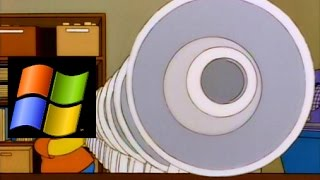 Bart Simpson's megaphone testing but it's Windows XP