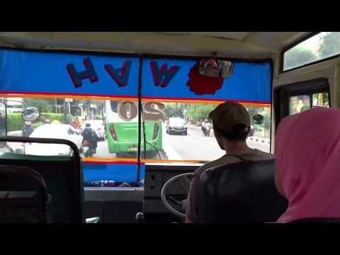 Ride in a local bus - Kopaja in Jakarta, Indonesia