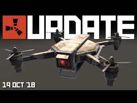 Drone model, Scarecrows, Strobe lights | Rust update 19th October 2018