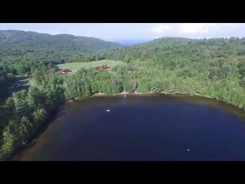 4k Drone Video: Champlain and Highlands Forge Lake, Adirondack Park, NY