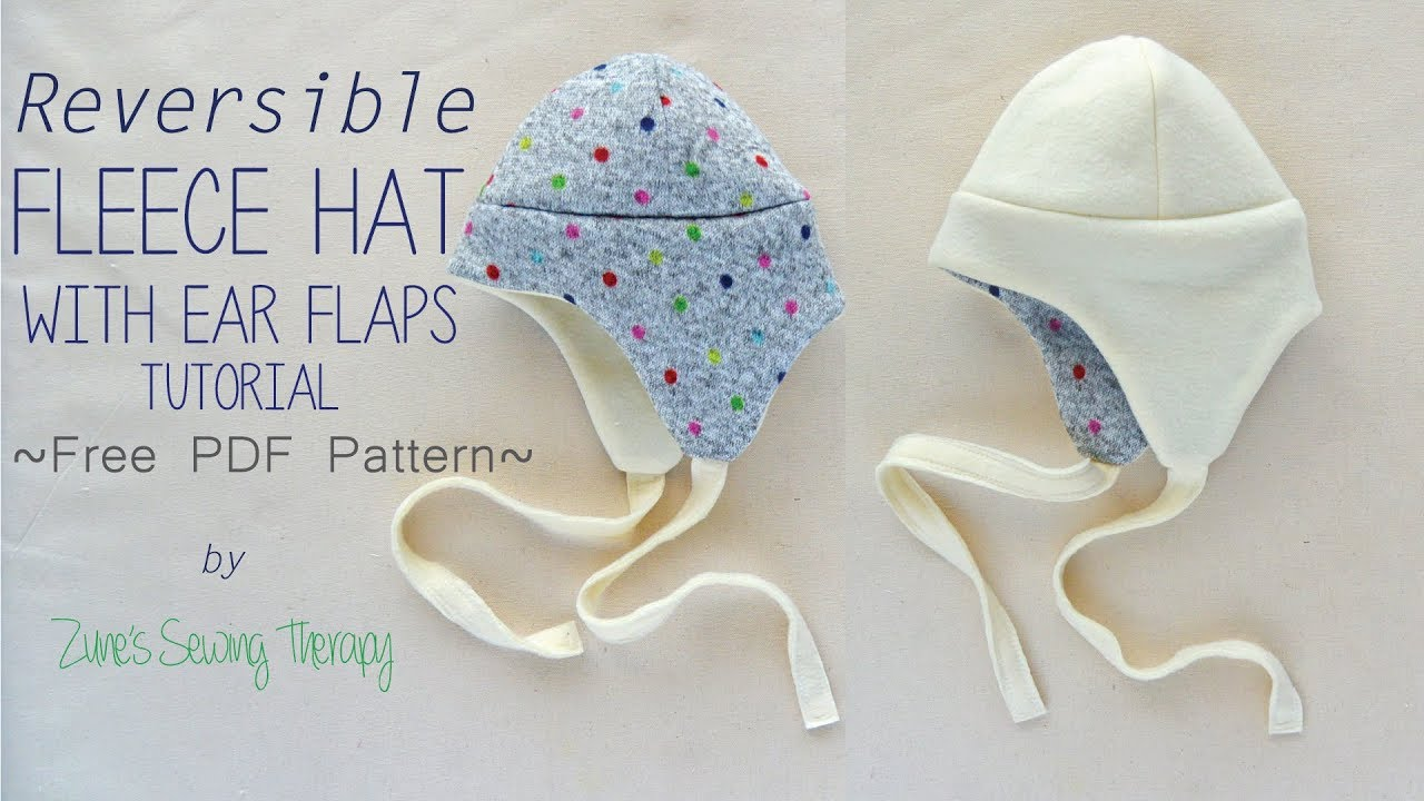 Kids Fleece Hat with Ear Flaps ~FREE pattern~ - YouTube ca64edcbd59