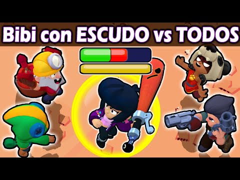 BiBi with SHIELD VS ALL | NEW Stellar Power | Brawl stars