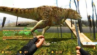Repeat youtube video Counter Strike Source Zombie Escape mod online gameplay on Jurassic Park