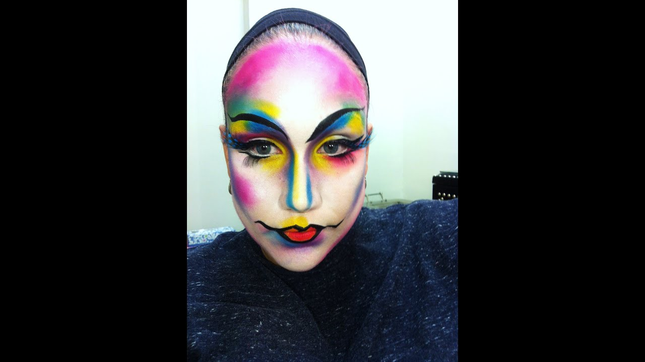 Artistic Colorful Makeup - YouTube