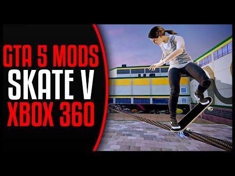 [XBOX 360] GTA 5 MODS - TONY HAWK SKATE V MOD SHOWCASE! (ULTIMATE SKATEBOARD TRICKS GAMEPLAY)