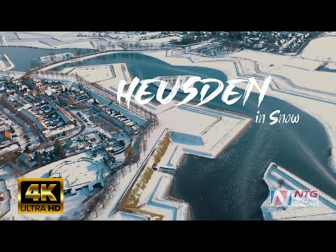 Heusden, the Netherlands Drone Video - The Frozen Lake by NTG Drone Media