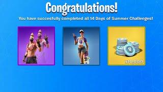 FREE 14 DAYS OF SUMMER REWARDS IN FORTNITE!!