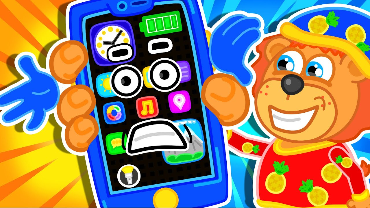 Lion Family | Talking Smart phone vs Emoji | Cartoon for Kids