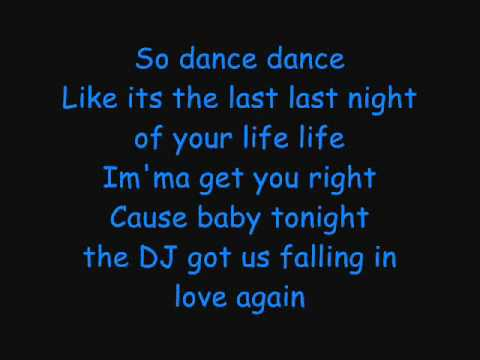 Dj Got Us Falling In Love Again-Usher Lyrics