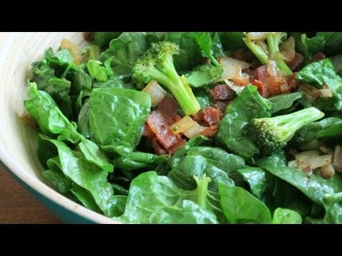 How To Make Bacon Spinach Salad   HilahCooking