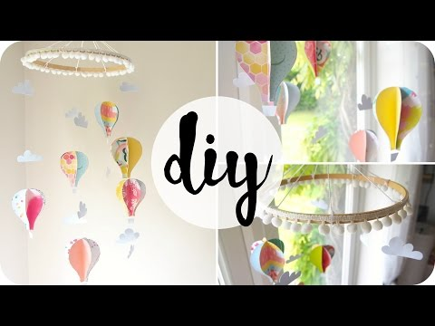 How To Make A Paper Hot Air Balloon Mobile | Easy DIY
