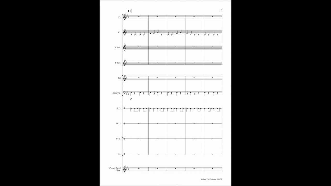 william tell overture printed sheet music for beginner school concert band youtube. Black Bedroom Furniture Sets. Home Design Ideas