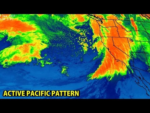 NIGHTLY WEATHER - Wednesday 1/18/2017 - Big storm in the Pacific states; Introducing ECMWF
