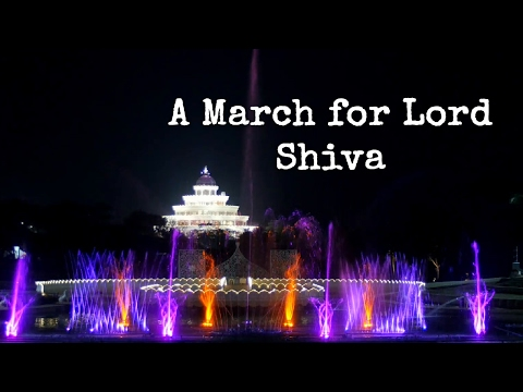 Amazing musical fountain - A March for Lord Shiva || Art of Living Instrumental