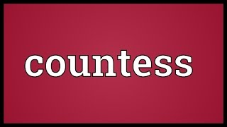 Countess Meaning