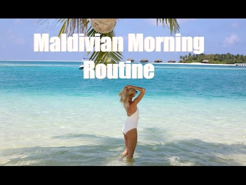 My Maldivian Morning Routine  |  Jet Lag & Post Travel Beauty Routine   |   Fashion Mumblr AD