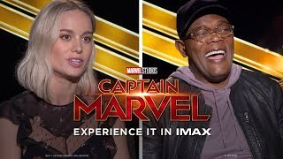 Brie Larson, Samuel L. Jackson & the Cast of Captain Marvel