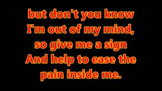 Billy ocean - Love really hurts without you (with lyrics)