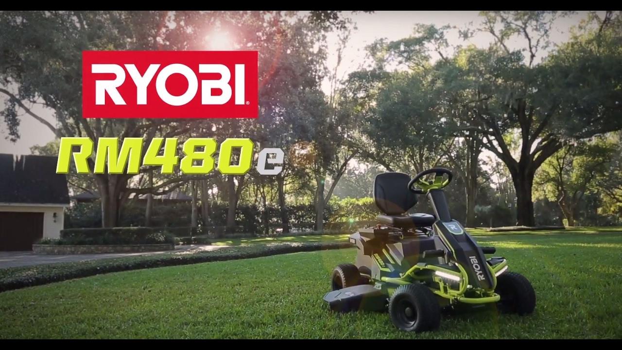 A Legit Electric Riding Lawnmower - GarageSpot