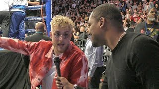 Jake Paul RINGSIDE REACTION Ryan Garcia VICIOUS KNOCKOUT! vs. Francisco Fonseca