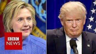 Hillary Clinton and Donald Trump tussle over economy- BBC News