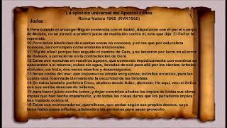 La Biblia - La Epístola Universal del Apóstol Judas -Judas- Reina Valera 1960 RVR1960