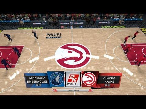 NBA 2K18 | Minnesota Timberwolves VS Atlanta Hawks