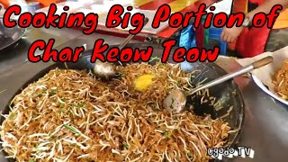 Freshly Cooked Fried Rice, Fried Vermicelli  And Fried Keow Teow In A Big Wok