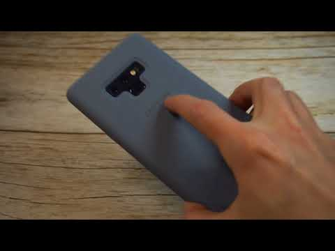 Official Samsung Silicone Case Blue For Note 9 Unboxing and Review