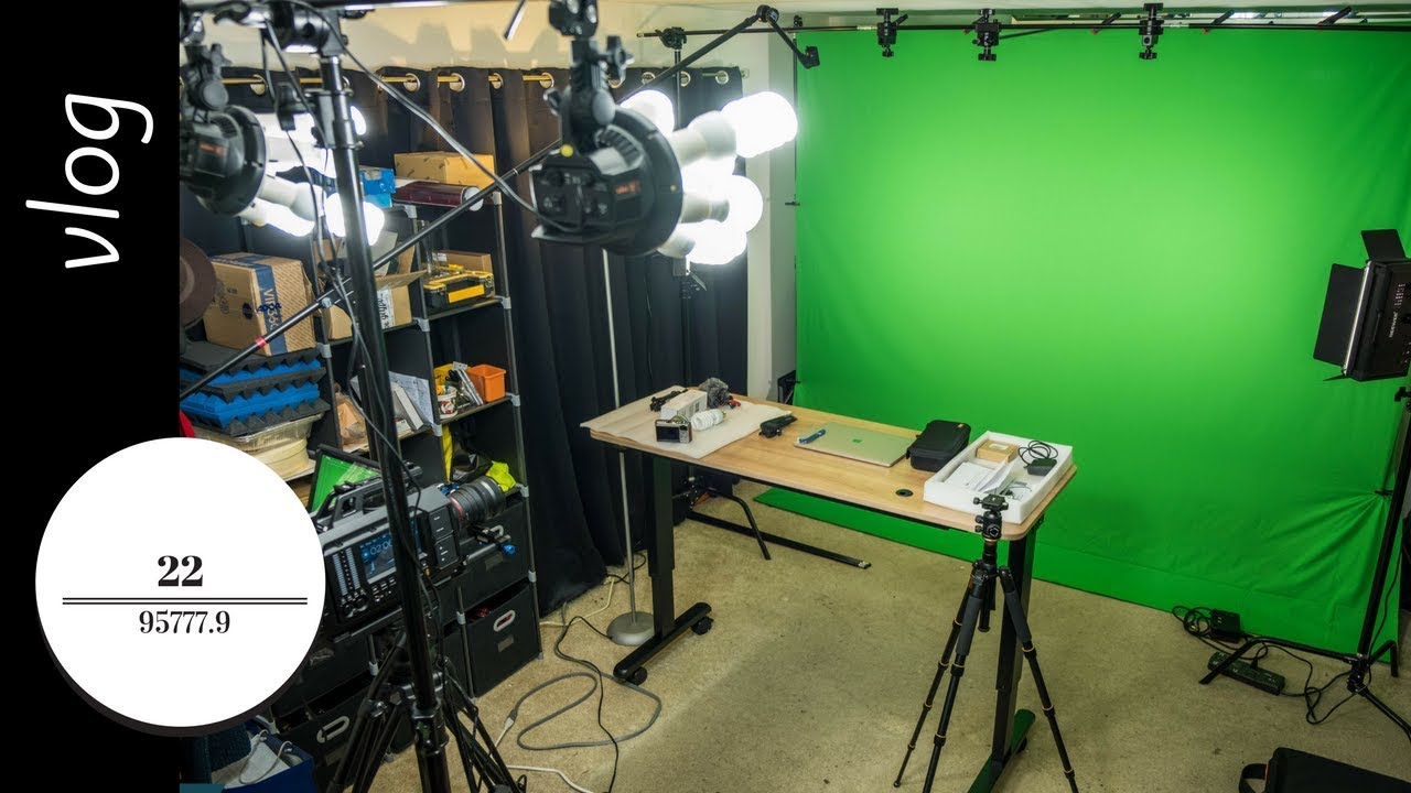 building a home studio part 3 lighting and first green screen test