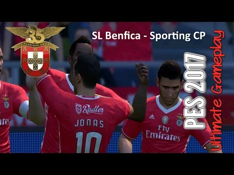 PES 2017: SL Benfica - Sporting CP (PC 1080p 60fps Stadium Galaxy Pitch Patches)