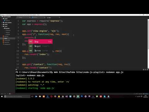 Node JS Tutorial for Beginners #28 - Middleware & Static Files