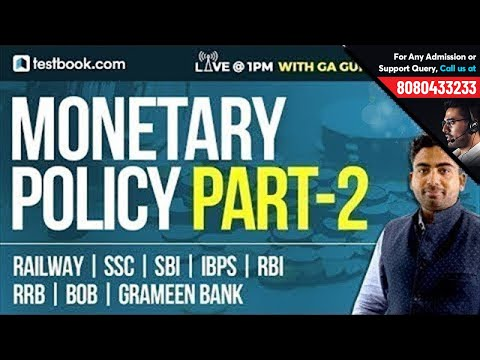 Monetary Policy Part II | GA Guru - Abhijeet Sir | Important GK Notes For SSC | Banking | RRB | SBI