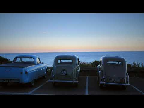 Relaxing sounds of seaside and vintage car travel